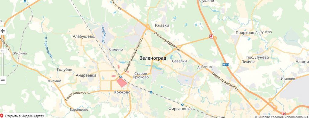 Карта обновления в Зеленограде