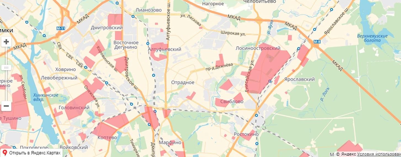 Карта обновления в САО