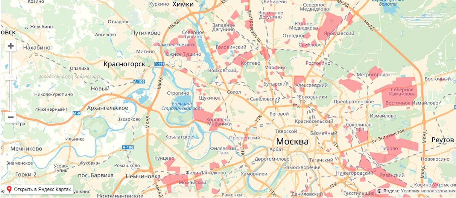 Карта обновления – общая картина