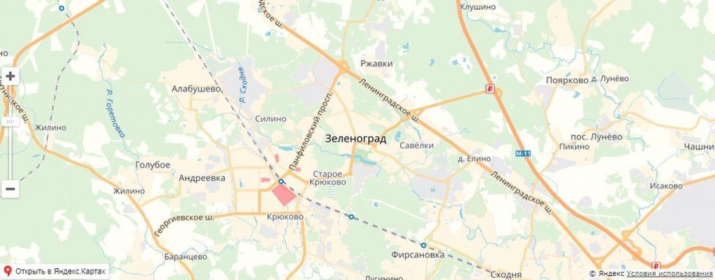 Карта обновления жилого фонда в Зеленограде