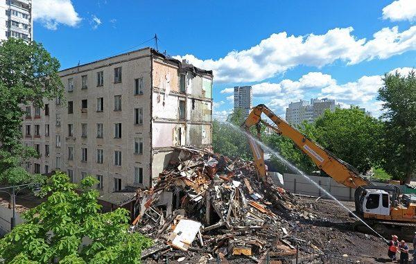 Дома под снос в районах Москвы